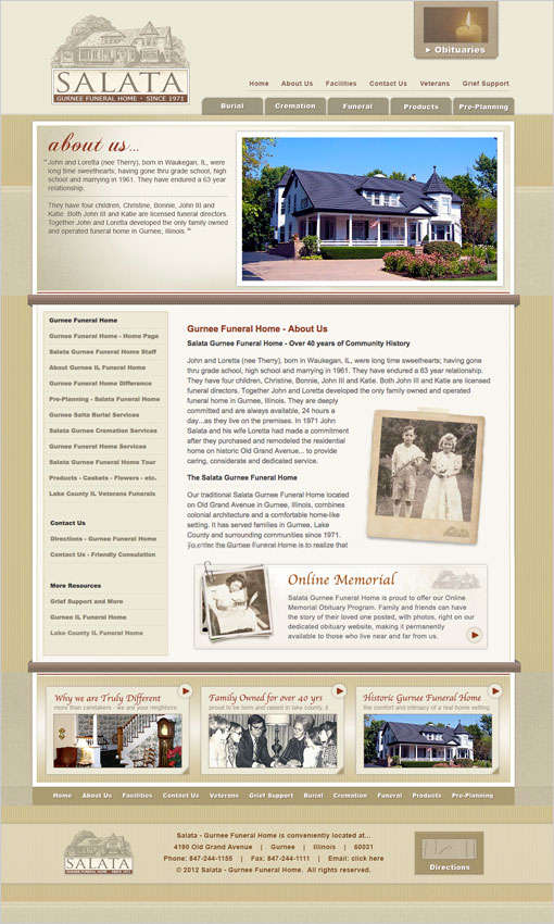 funeral home web design funeral website design. Black Bedroom Furniture Sets. Home Design Ideas